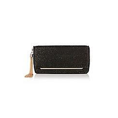 Coast - Black 'Ivy' sparkle clutch bag