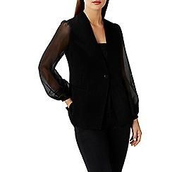 Coast - Black organza 'Olivia' long sleeve jacket