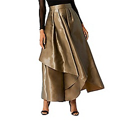 Coast - Chartreuse liquid metallic 'Celine' full maxi skirt