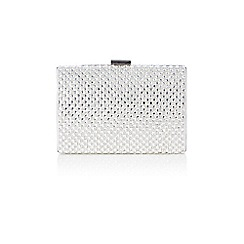 Coast - Silver diamante 'Anaya' clutch bag