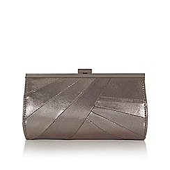 Coast - Gun metal 'Charis' shimmer clutch bag