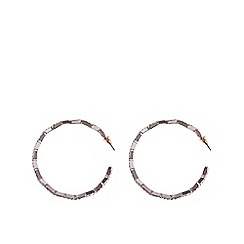 Coast - Leda hoop diamante earrings