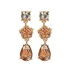 Coast - Rose gold 'Nova' floral sparkle earrings