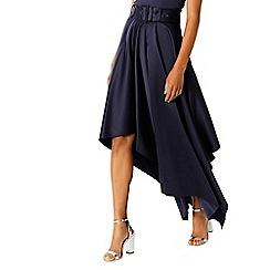 Coast - Navy 'Kim' drape high low skirt