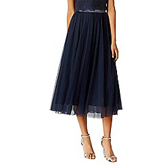 Coast - Navy 'Clara' sparkle bridesmaid skirt