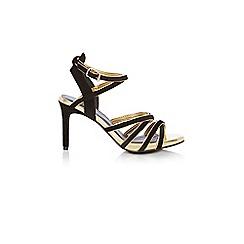 Coast - Black 'Serena' high heel ankle strap sandals