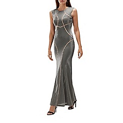 Coast - Silver sparkle 'Pria' round neck full length maxi dress