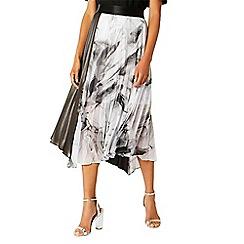 Coast - Multi printed metallic 'Samira' asymmetric skirt
