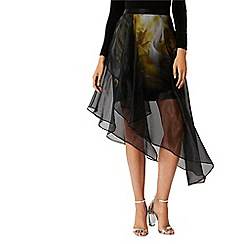 Coast - Multi printed 'Ada layer' midi skirt