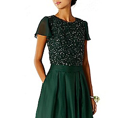 Coast - Forest green 'Thea' sequin bridesmaid top