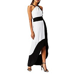 Coast - Monochrome crepe 'Char' halterneck maxi dress