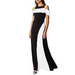 Coast - Monochrome 'Maisy' high neck maxi dress