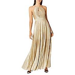 Coast - Gold 'Tyler' halterneck maxi dress