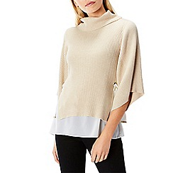 Coast - Beige wool and cotton blend 'Cameron' knit top