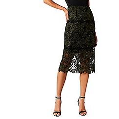 Coast - Black lace 'Layla' midi pencil skirt