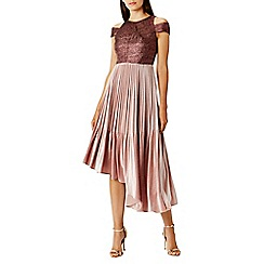 Coast - Pink velvet 'Delores' high neck dress