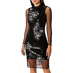 Coast - Black sequin 'Catarina' high neck shift dress