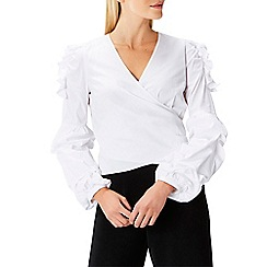 Coast - Ivory 'Inga' v-neck long sleeved wrap blouse