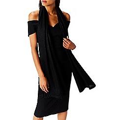 Coast - Black shimmer lurex 'Adelisa' scarf
