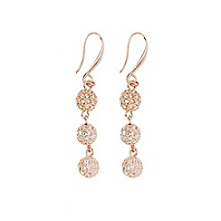 Coast - Rose gold 'Elva' sparkle ball earrings