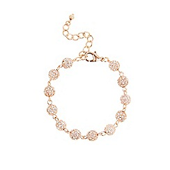Coast - Rose gold 'Elva' sparkle ball bracelet