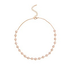 Coast - Rose gold 'Elva' sparkle ball necklace