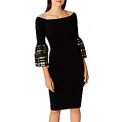 Coast - Black cotton blend 'adriana' bardot shift dress
