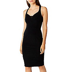 Coast - Black 'Victoria' sweetheart neckline shift dress