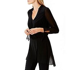 Coast - Black ' Bengal' v-neck overlay blouse
