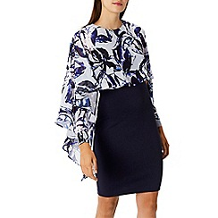 Coast - Debenhams Exclusive - Multi printed 'Talog' drape shift dress
