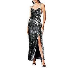 Coast - Silver sequin 'Kadie' v-neck maxi dress