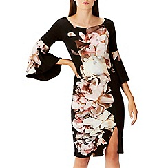 Coast - Multi floral print scuba 'Arles' shift dress