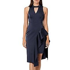 Coast - Navy 'Carlotta' choker neck knee length shift dress