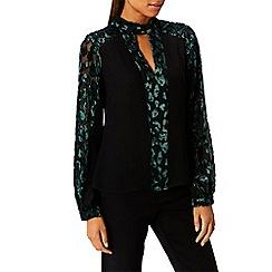 Coast - Forest 'Clarissa Burnout' v-neck long sleeves blouse