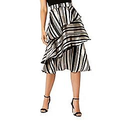 Coast - Multi striped 'Oriana' midi skater skirt