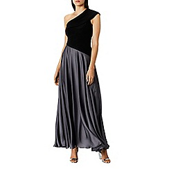 Coast - Black satin 'Lettie' asymmetric maxi dress