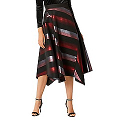 Coast - Multi metallic stripe 'Laureice' midi skirt