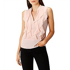 Coast - Blush 'Courtney' v-neck ruffle vest top