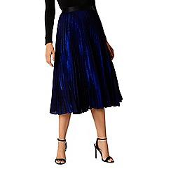 Coast - Royal blue 'Tiana' midi pleated skirt