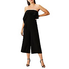 Coast - Black 'Lissa' bandeau wide leg crop jumpsuit