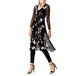 Coast - Multicoloured floral 'Jodie' long sleeves midi dress