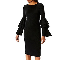 Coast - Black sparkle knitted 'Alessa' long sleeves jumper dress