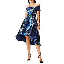 Coast - Debenhams Exclusive - Multi jacquard 'Aaliyah' bardot high low fit and flare dress