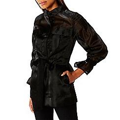 Coast - Black 'Estelle' 3/4 sleeved shacket