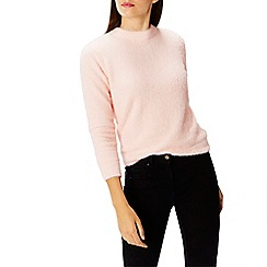 Coast - Soft pink 'Tiara' high neck long sleeved tie back knit top