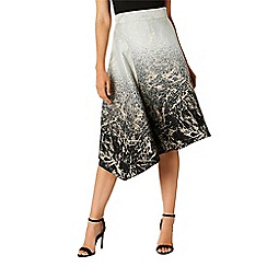 Coast - Multicoloured jacquard print 'Remy' midi asymmetric skirt