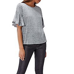 Coast - Grey 'Tess' round neck short sleeved top