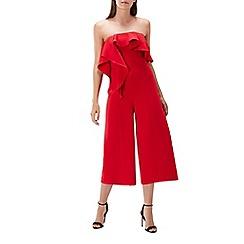 Coast - Red 'Lissa' bandeau wide leg culottes jumpsuit