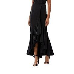 Coast - Black scuba structured 'Emilie' full length skirt