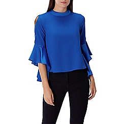 Coast - Colbalt 'Emmy mae' high neck 3/4 sleeved top